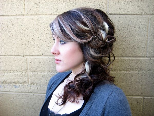 curly-hairstyle-updos-grey-silver-hair-color-highlights | Color ...