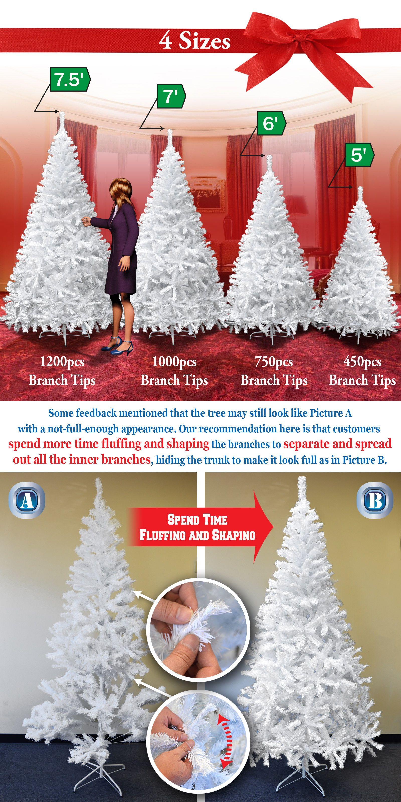 Artificial Christmas Trees New Christmas Tree 5 6 7 7 5Ft W