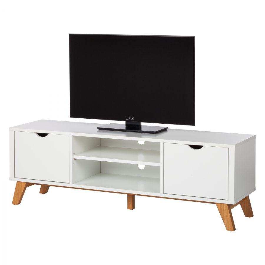 Tv Lowboard Brekille Weiss Eiche House Furniture Vinyl