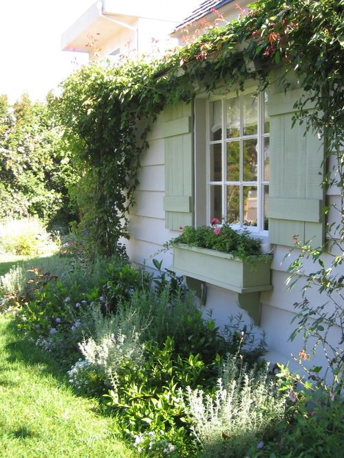 rose covered cottages rose covered cottages pinterest curb appeal window and box. Black Bedroom Furniture Sets. Home Design Ideas