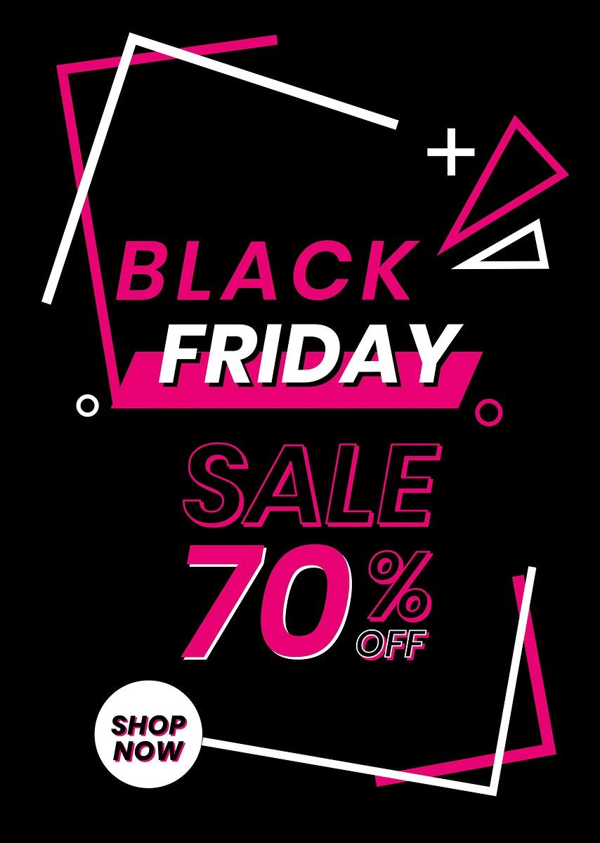 Download Premium Vector Of Pink Vector Black Friday 70 Off Funky Bold Black Friday Black Friday Cyber Monday Black