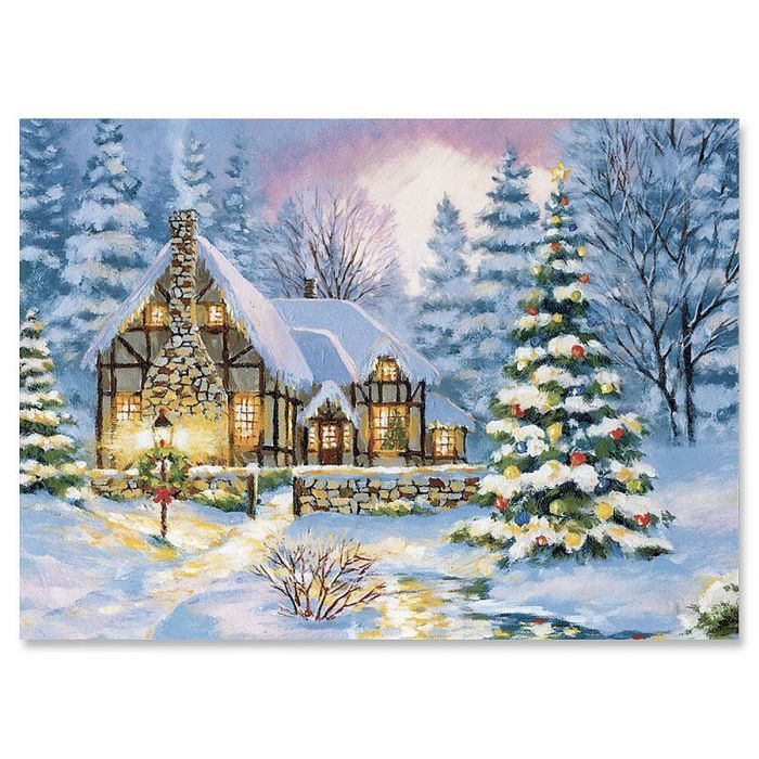 Winter Cottage Christmas Cards Set of 18 | Current Catalog