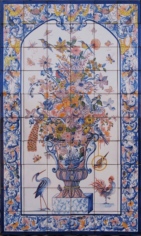 Spanish Decorative Tile Tile Murals Spanish Tile Victorian Tile Decorative Tile