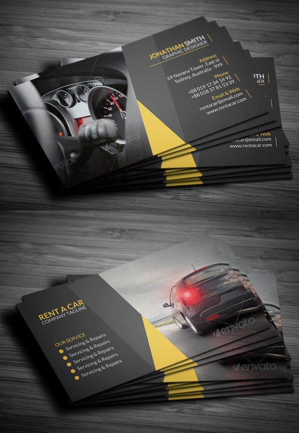 Rent A Car Business Card | Design | Design | Pinterest | Business ...