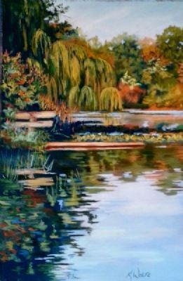 The Swimming Hole, 12 x 18 Pastel