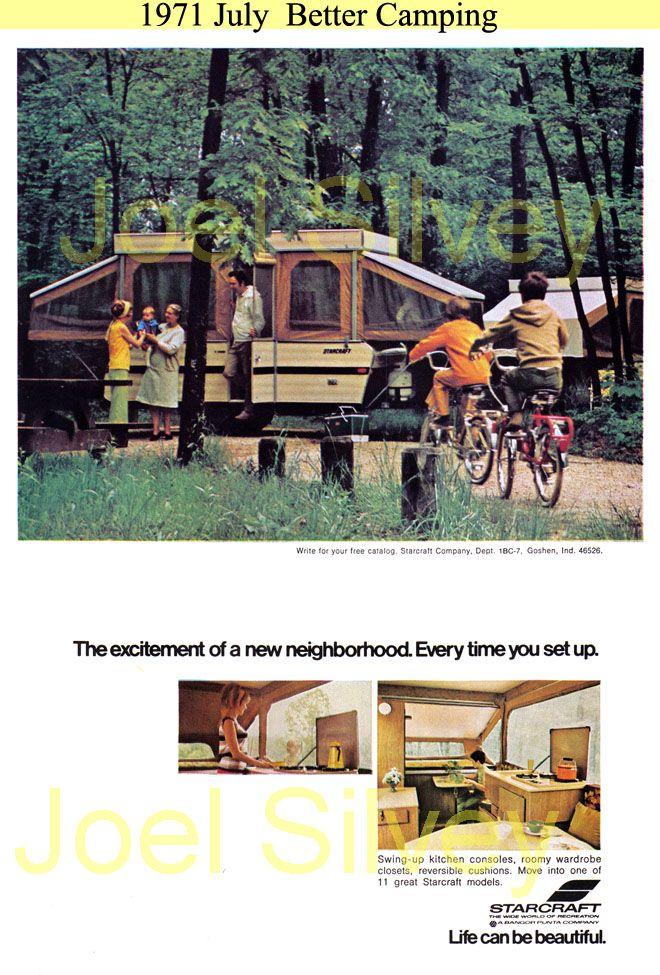 Pop Up Camper  Vintage Camper Sign
