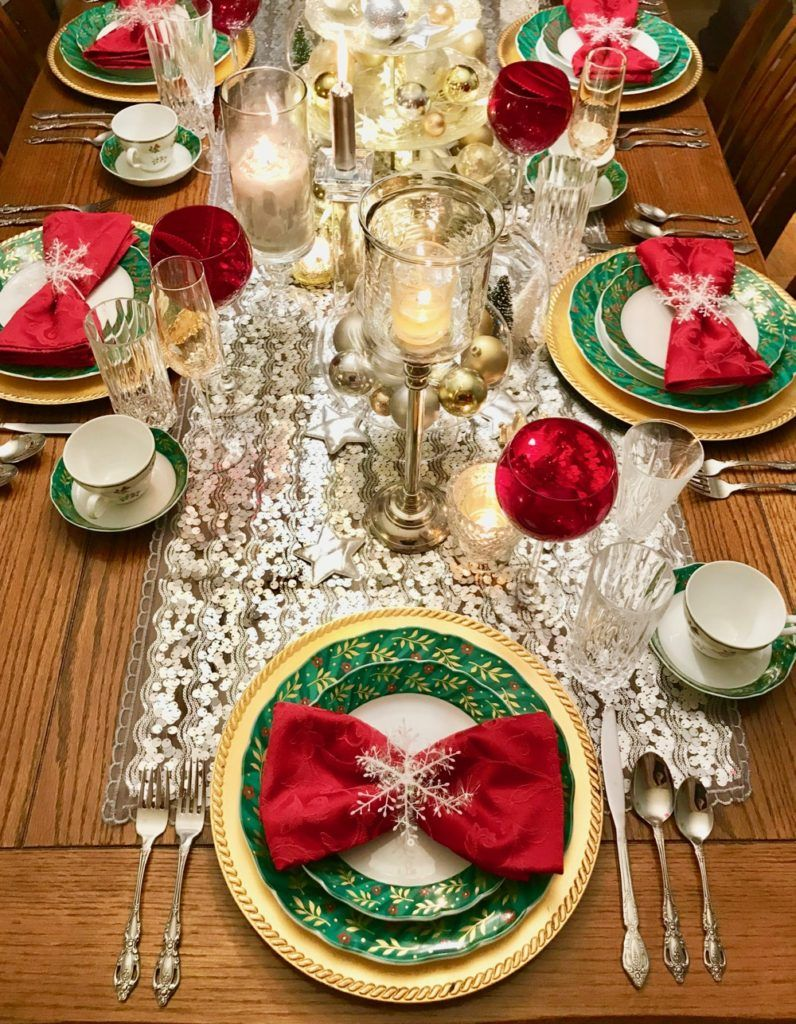 Christmas Song Lyric Table Runner And Christmas Table Setting Idea View From The Fridge Christmas Table Decorations Diy Diy Christmas Table Christmas Table Decorations