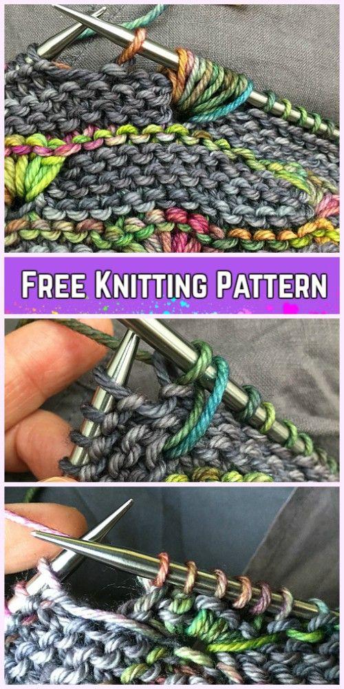 Photo of Knit Bud Stitch Free Knitting Pattern