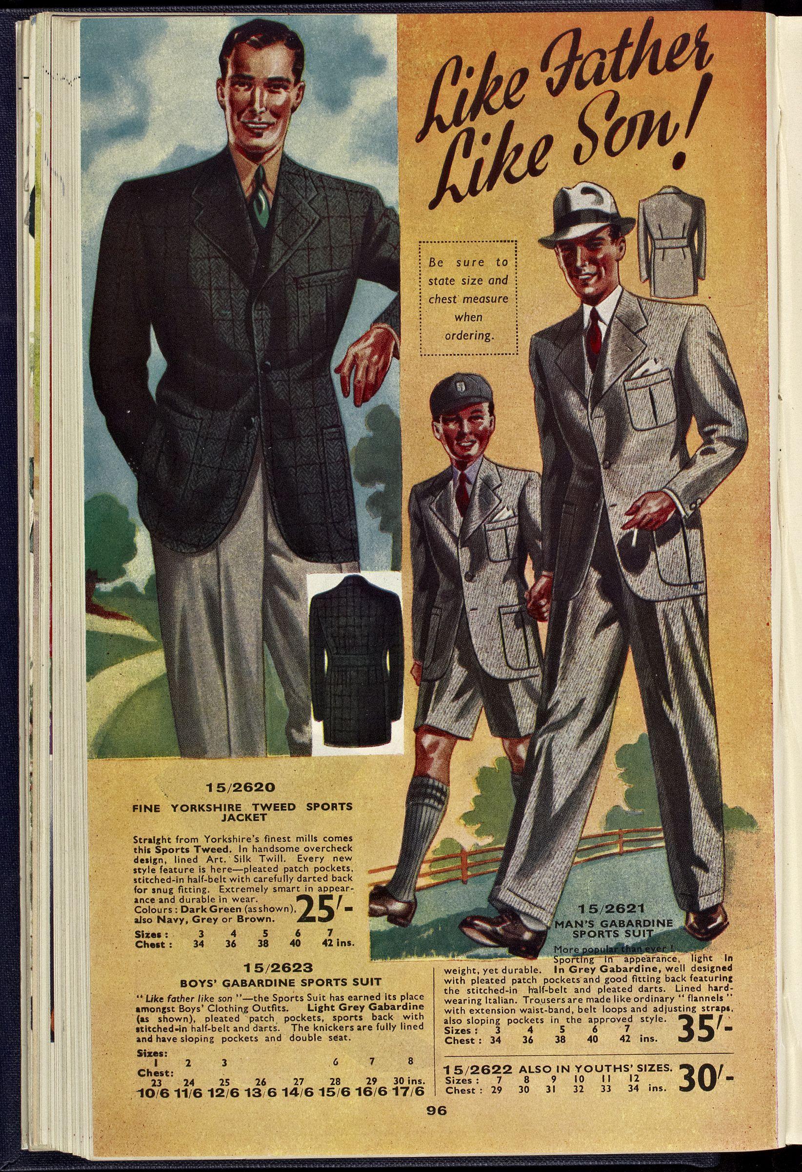 Ks40p96 Vintage Mens Fashion 1940s Mens Fashion Fashion Illustration Vintage