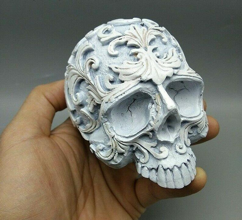 Silicone Cake Mould Skull Pattern Mold Baking Clay Resin Decorating 3d Tool Diy