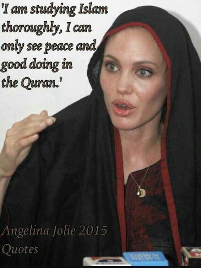 Resultado de imagen de angelina jolie islam