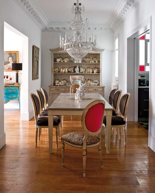 {leopard print dining chair}