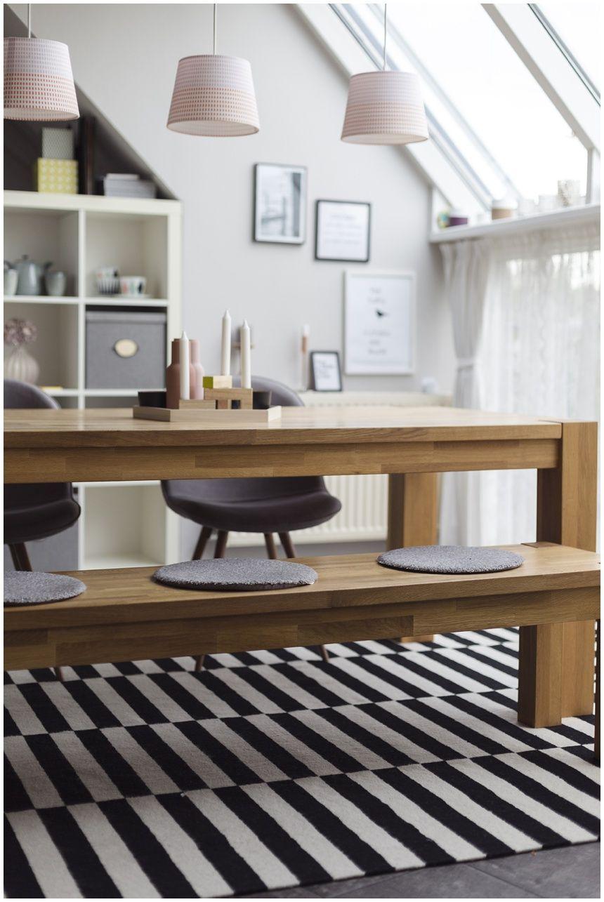 Ikea Stockholm Teppich, Fashion For Home, Wiener Wohnsinn Blog, Esszimmer,  Vollholztisch Eiche