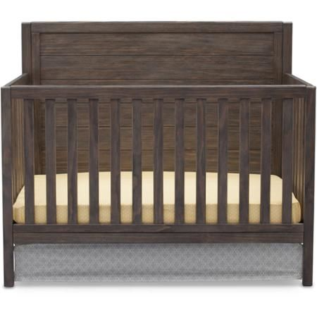 $229 Delta Children Cambridge 4-in-1 Convertible Crib, Rustic Grey ...