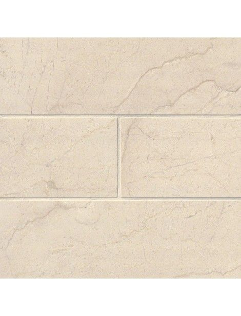 4 in. x 12 in. Crema Marfil Marble Brick Pattern Polished Tile #Crema_Marfil_Marble, #Crema_ Marble_Tile, #4x12_Marble