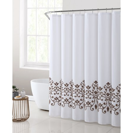 Better Homes Gardens Montauk Embroidered Shower Curtain 1 Each Walmart Com Orange Bathroom Decor Shower Curtain Curtains