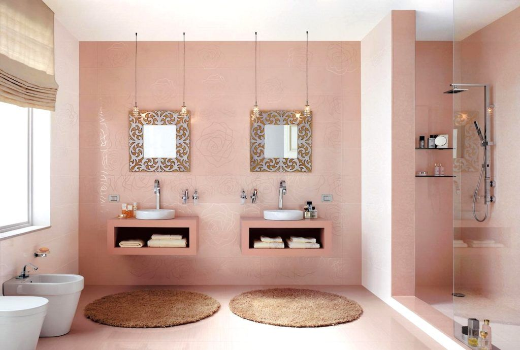 Pink And Brown Bathroom Decorating Ideas Home In 2019
