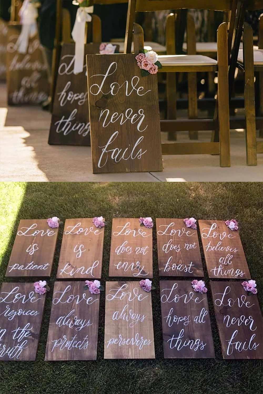 "Bible Verse Wedding Aisle or Reception Decor (8 signs, 9"" x 12"") | Wedding Products from MyOnlineWeddingHelp.com"