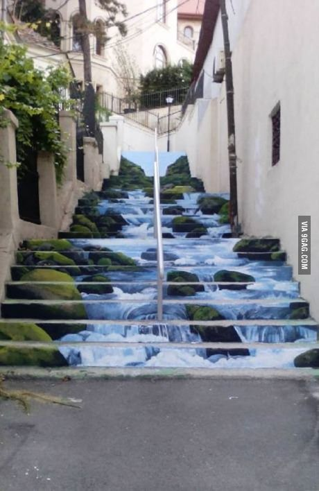 Street art in Bucharest. This is absolutely pretty.