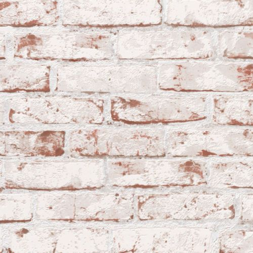 Details About White Painted Reclaimed Brick Wallpaper White Red