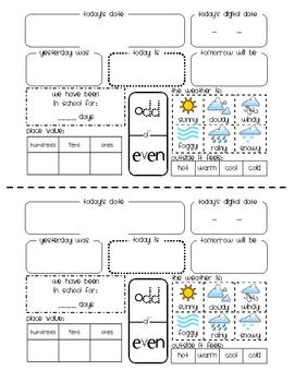 Calendar Sheet Kindergarten Calendar Calendar Math Classroom Calendar