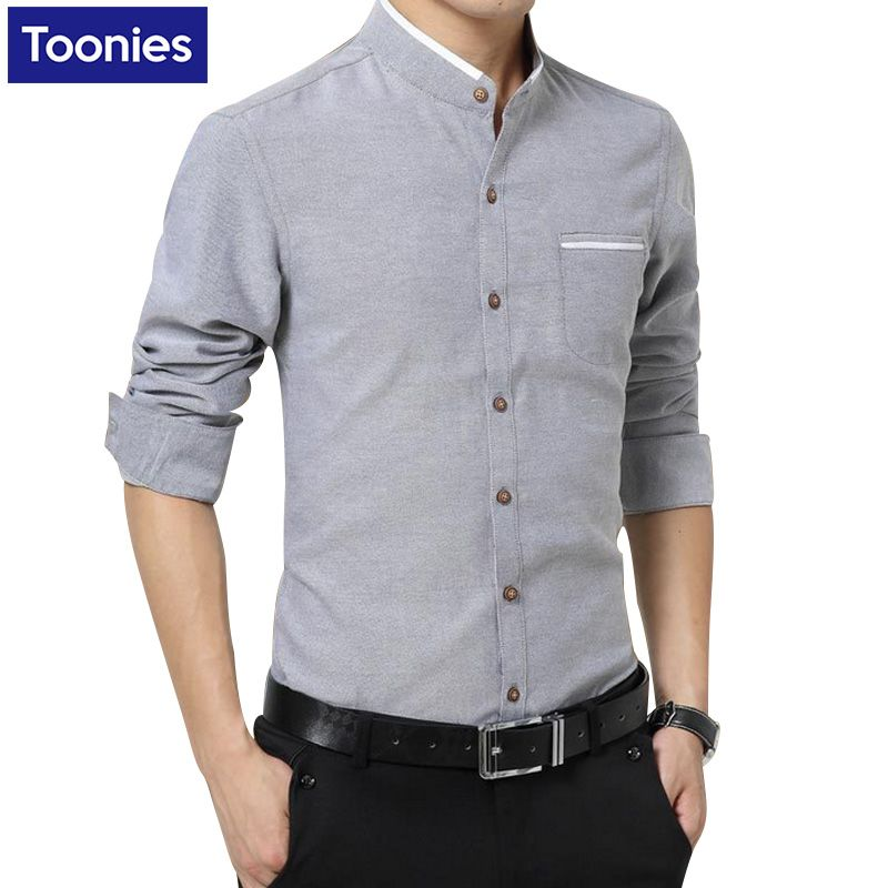 New Brand Clothing Mens Dress Shirts Single Ted Chemise Homme Long Sleeve Slim Fit Shirt Men