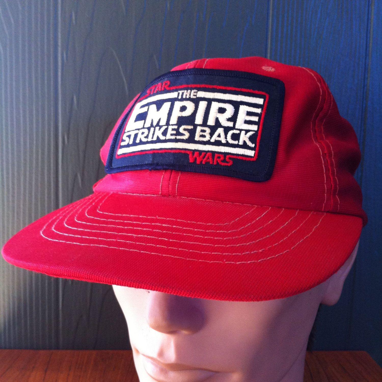 388ed6495 Vintage Star Wars Empire Strikes Back Mesh Back Snapback Trucker Hat ...
