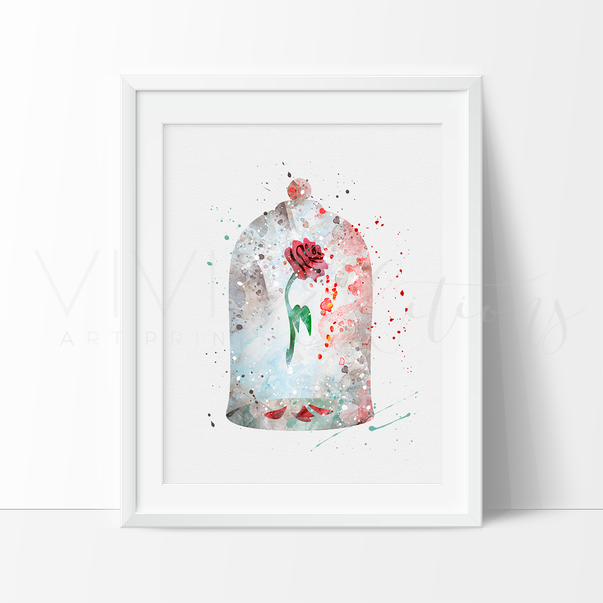 Best Cursed Rose Beauty And The Beast Watercolor Art Print 400 x 300