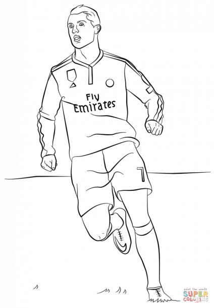 Cr7 Pictures Color Ronaldo Cristiano Ronaldo Flag Coloring Pages