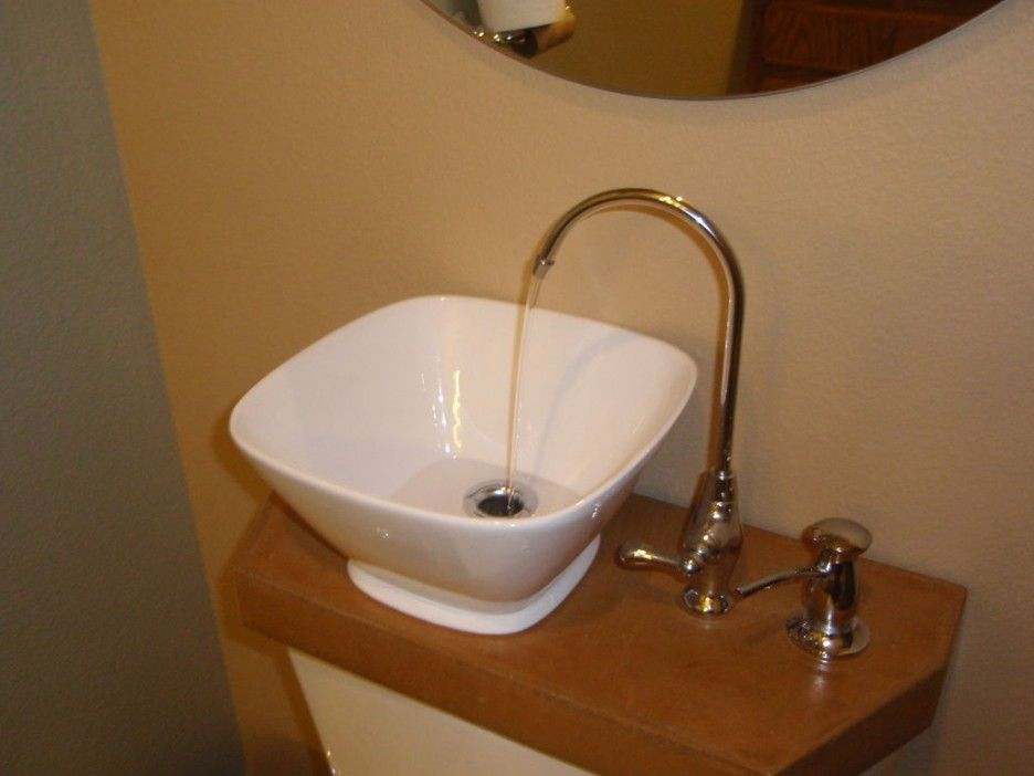 Alluring Toilet With Sink On Tank Combined Bowl Porcelain Wash Basin Beside  Curves Brass Faucet Attached Amazing Design
