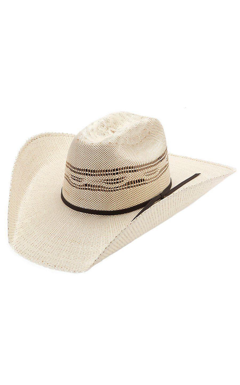M   F 10X Tan Two-Tone Bangora Straw Cowboy Hat  8f521e27bf0f