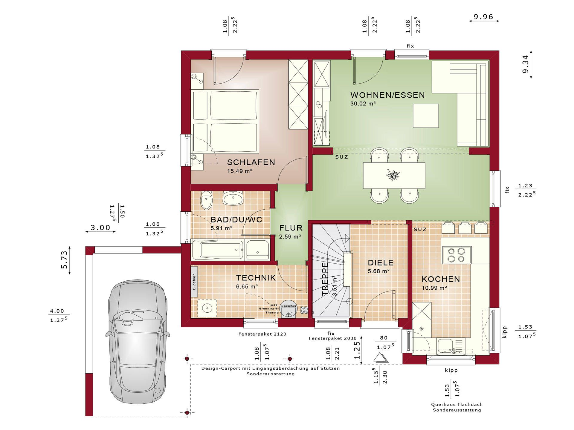 haus solution 78 v10 grundriss eg von living haus bungalow pinterest. Black Bedroom Furniture Sets. Home Design Ideas