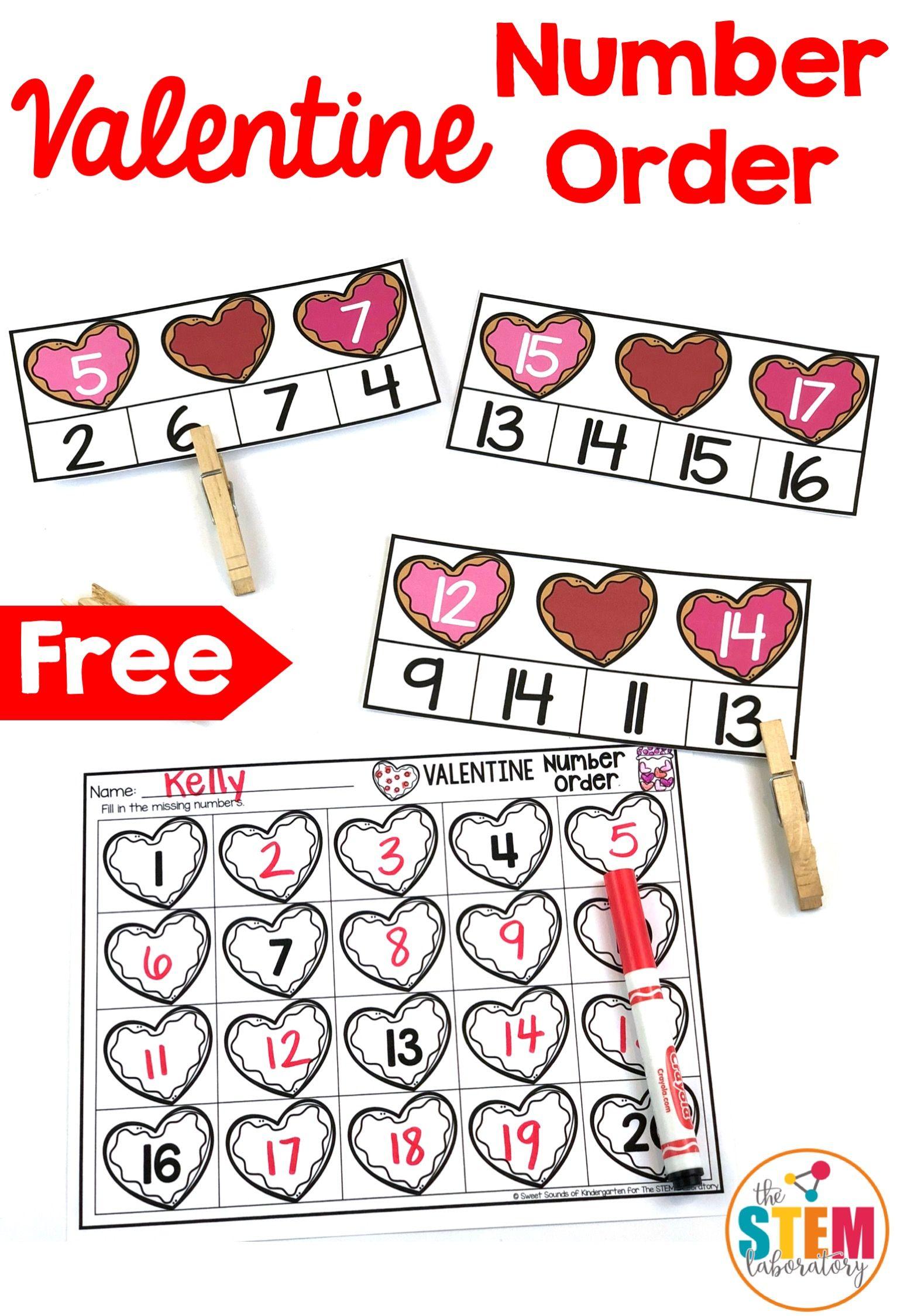Valentine Number Order