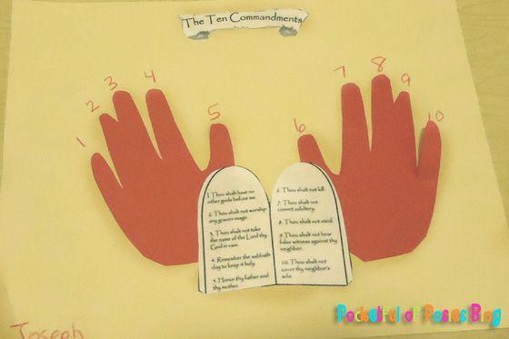Sunday School Crafts: The 10 Commandments | Jesus loves the little