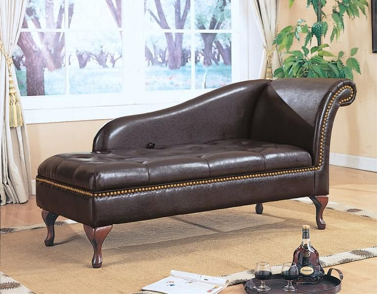 Brown Leather Chaise Lounge In 2020 Chaise Lounge Chair Bedroom