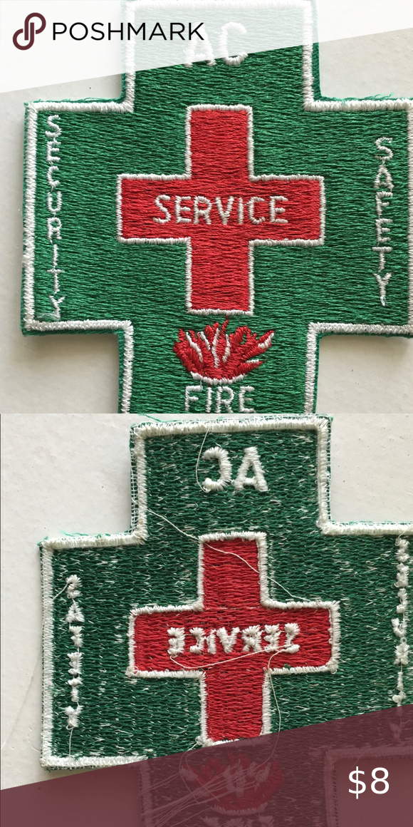 Safety Security Patch Service Fire Green Cross Security Patches Safety And Security Security Badge