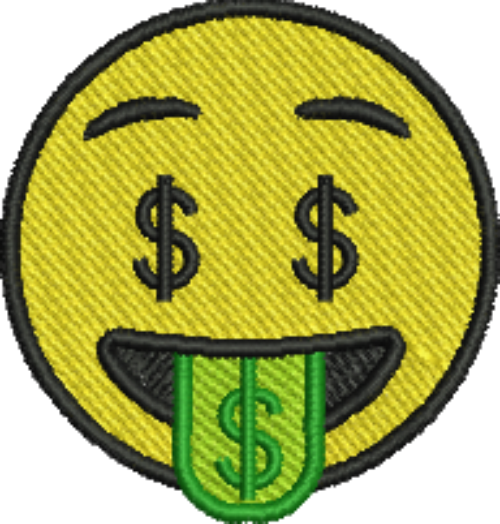 Emoji Money Tongue Iron On Patch Iron On Patches Patches Embroidered Patches