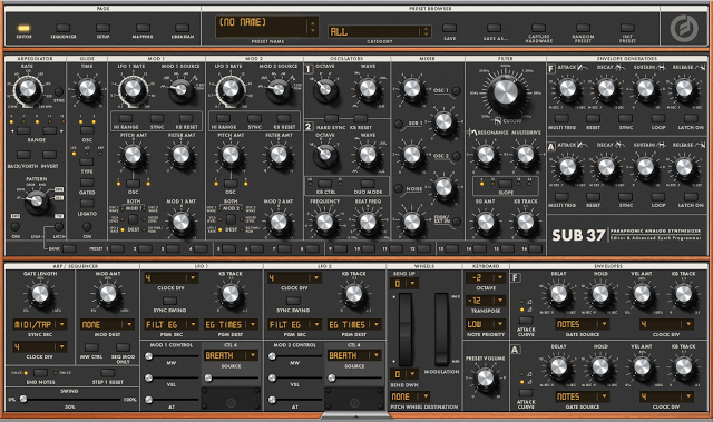 MATRIXSYNTH: New Moog Music Inc Sub 37 Editor & Patches | New Synths