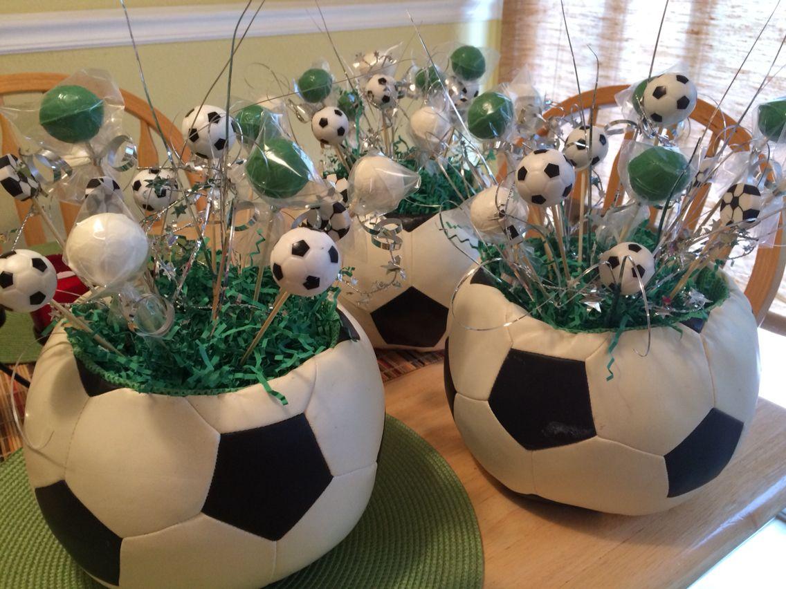 Soccer centerpieces cumple pali pinterest