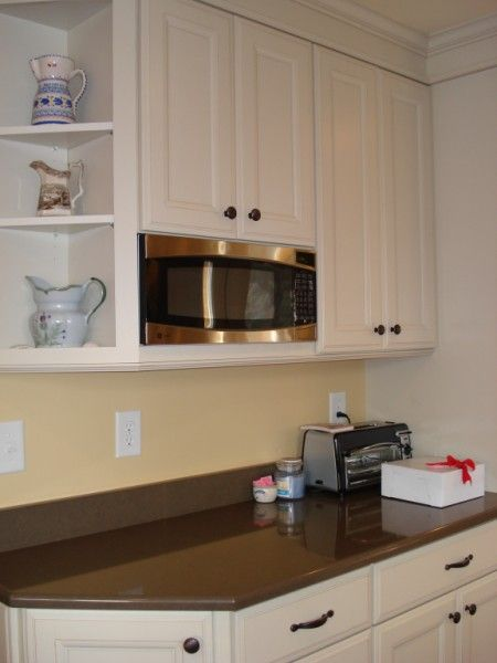 ge microwave built into upper cabinets