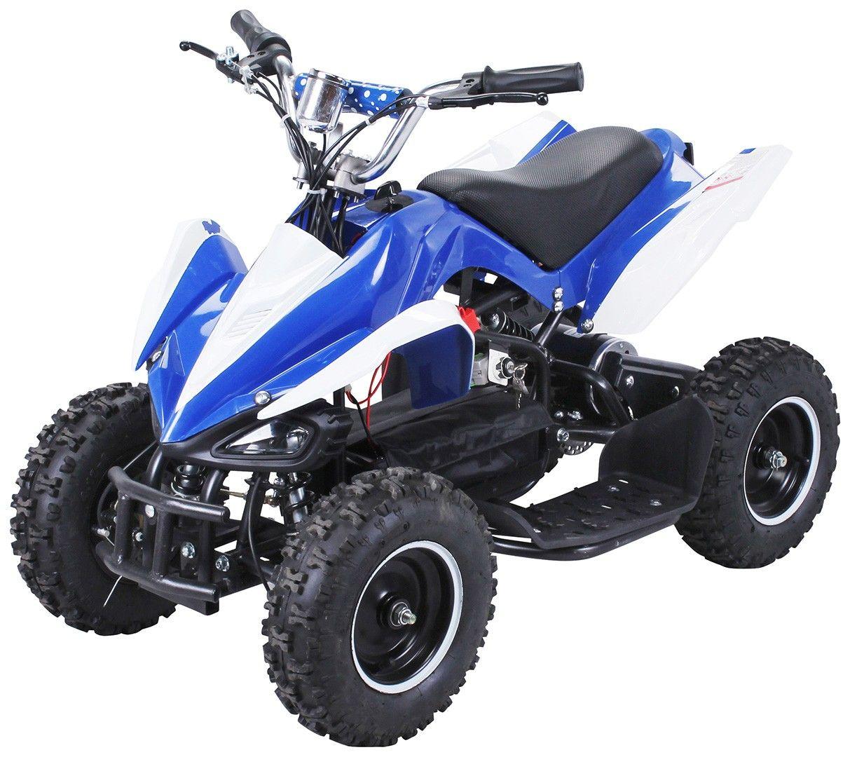 Quad Electrique Python 800w Bleu Quad Quad Pour Enfant Moteur 2 Temps