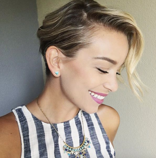 Slicked down pixie cut by Sarah LouWho