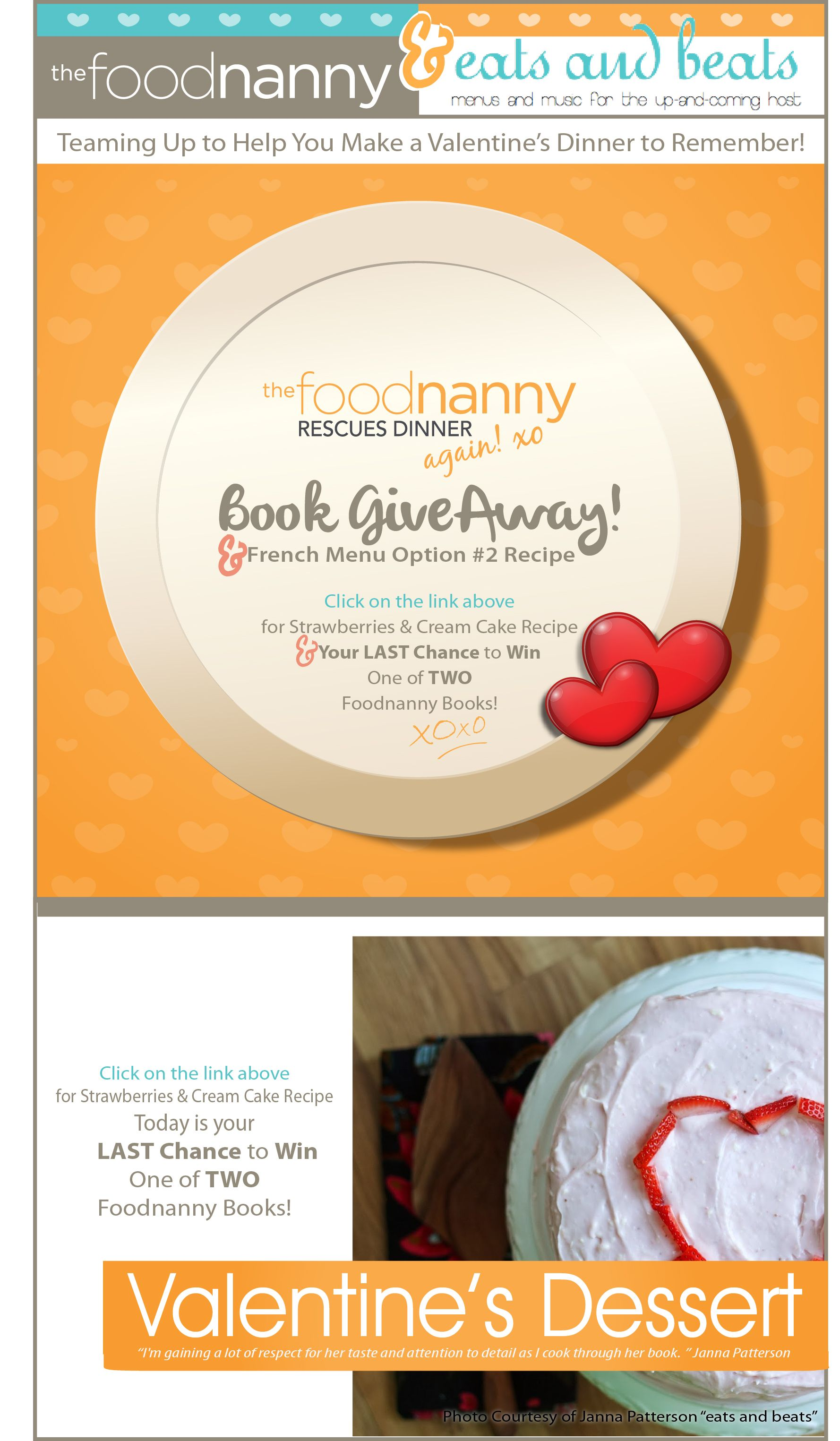 Delicious Valentine Dinner Recipes & Your Chance to Win a Food Nanny Book!