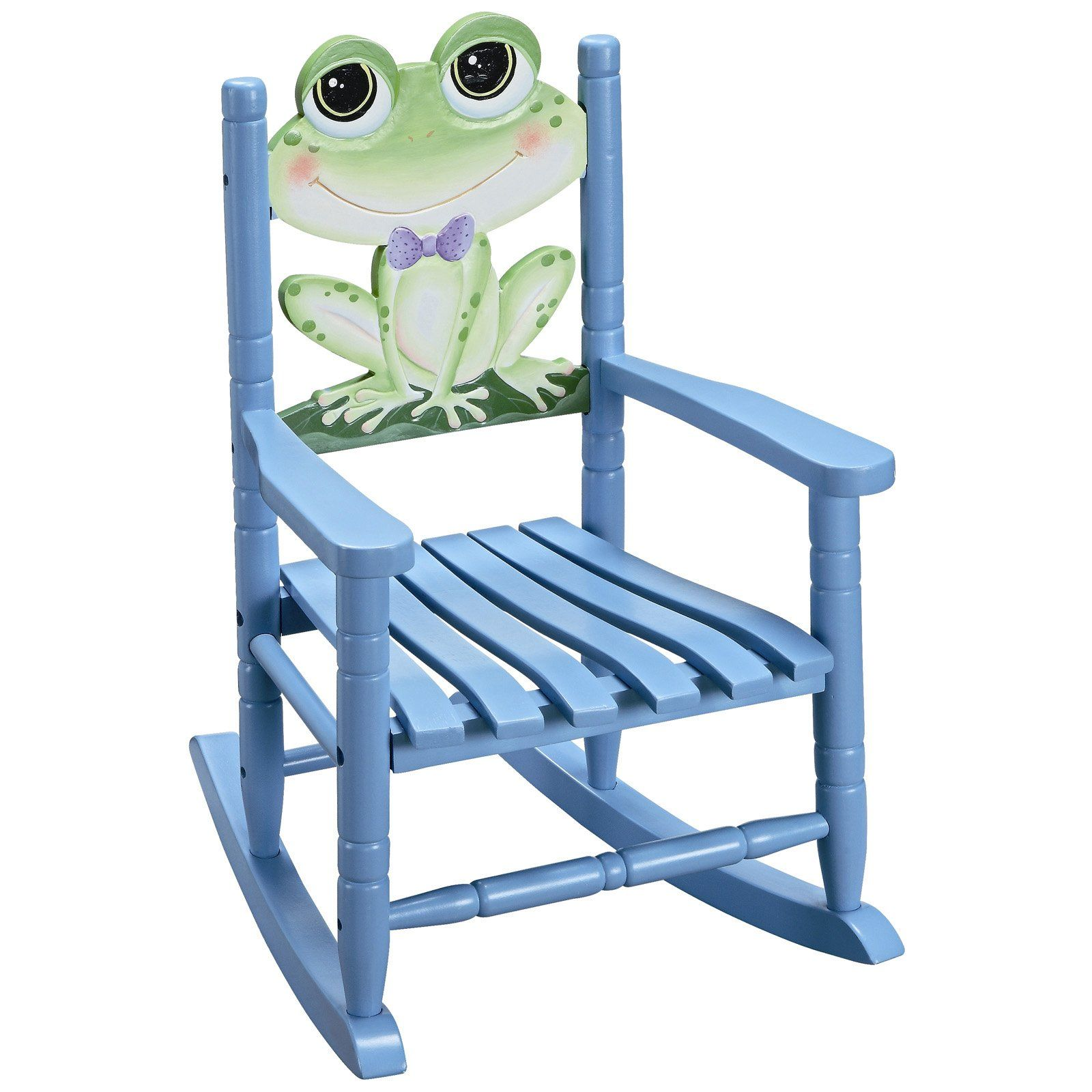 This Kids Rocking Chair with Frog Backrest is simply