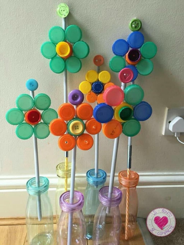 Bricoler avec les enfants: 12 idées avec des bouchons coloré…