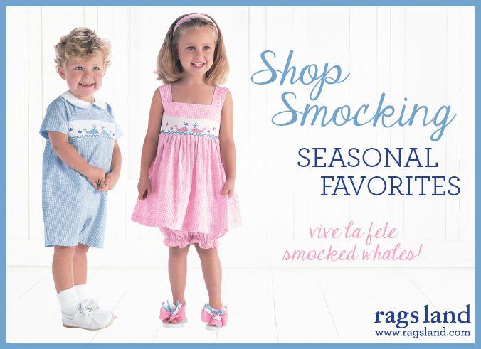 Our Vive La Fete Smocked Whales Collection! Shop NOW at www.ragsland.com & follow Ragsland on Instagram!