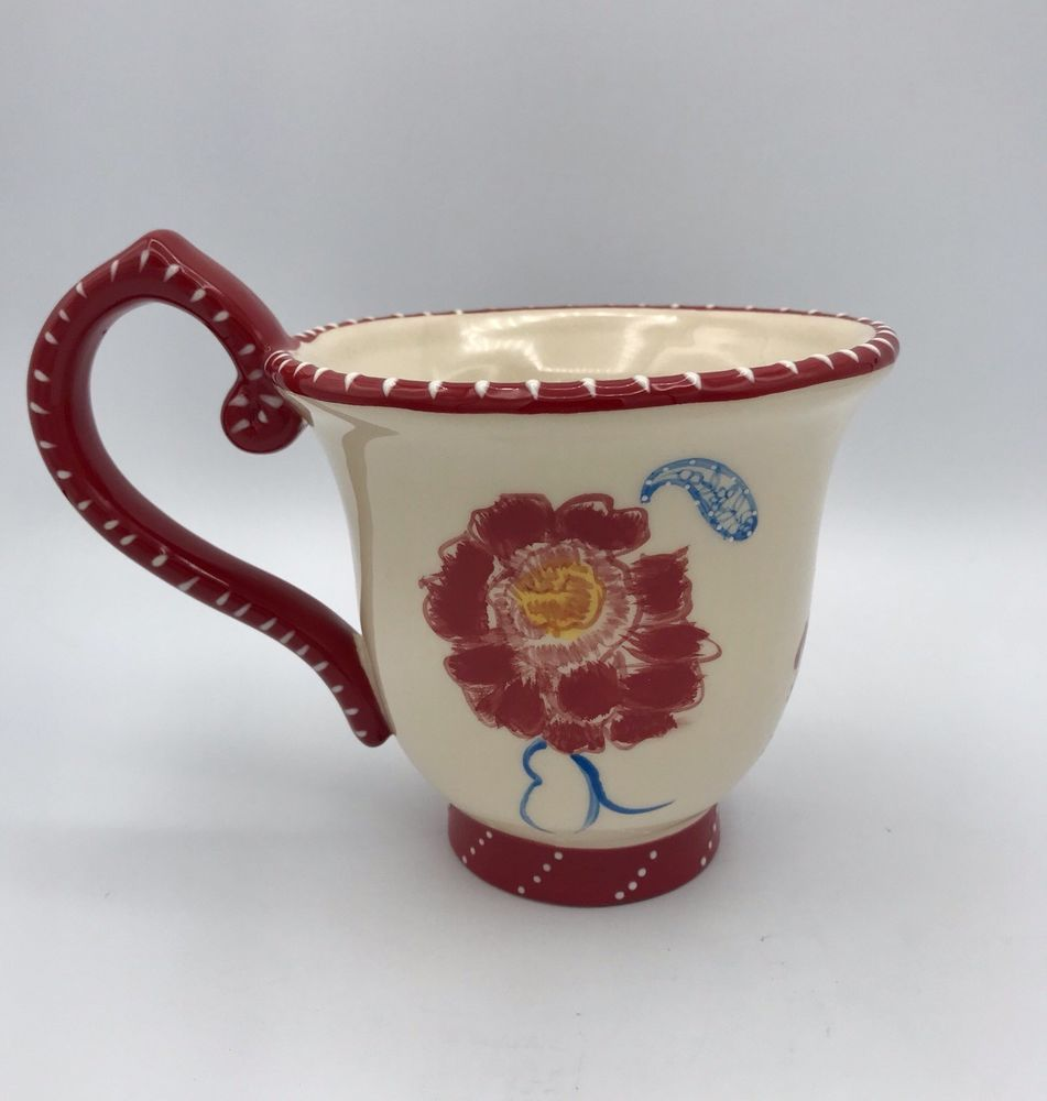 Blue sky ceramic designer heather goldminc flower