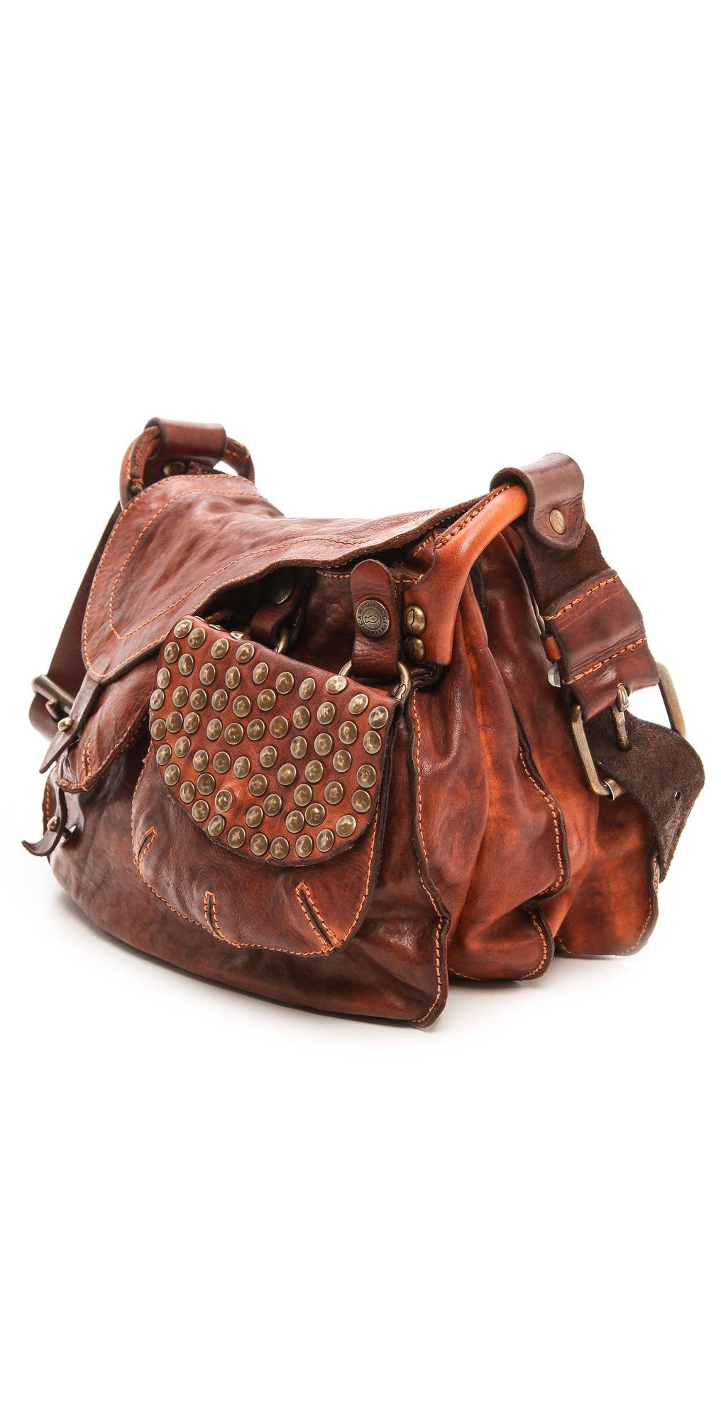 c93a703305cd Campomaggi Washed Leather Shoulder Bag