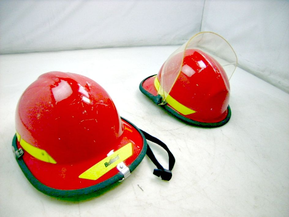 Lot of 11 Fire fighter helmets available on GovLiquidation!