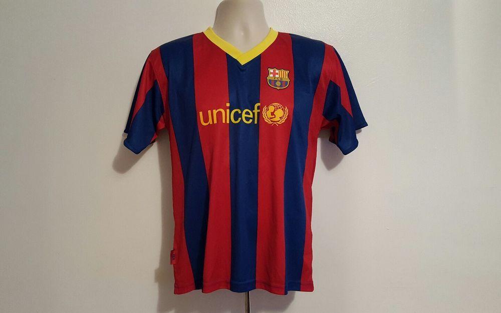 2dde20d2ab1 FCB Barcelona Lionel Messi 10 UNICEF Soccer Jersey Futbol Adult Size 14 # Rogers #Barcelona
